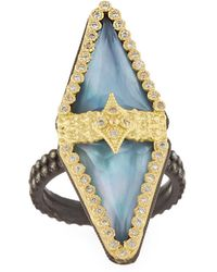 Armenta - Old World 18k Triplet Diamond Ring Size 6.5 - Lyst