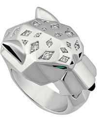 Cartier - Estate 18k Diamond Panthere Ring Size 5.75 - Lyst