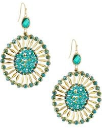 Nakamol - Beaded Starburst Circle Drop Earrings - Lyst