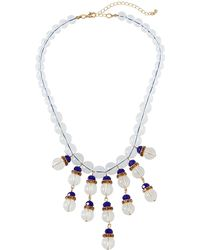 Fragments - Montana Clear & Pavé Statement Necklace - Lyst