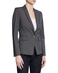 Tahari - Single-button Pinstriped Jacket - Lyst