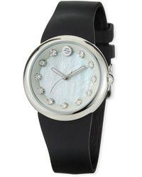 Philip Stein - 36mm Mother-of-pearl Round Watch W/ Crystals Black - Lyst