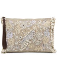 Tommy Bahama - Belize Embroidered Canvas Clutch Bag - Lyst