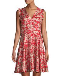 Rebecca Taylor - Cherry-blossom Silk Sleeveless Mini Dress - Lyst
