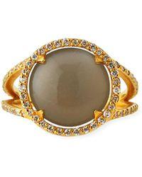 Gurhan - 22k Elements Hue Moonstone Ring W/ Diamonds - Lyst