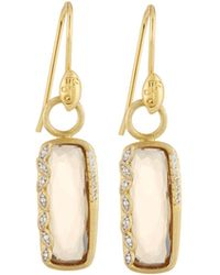 Jude Frances - Sonoma Long Cushion Champagne Citrine Earrings With Diamonds - Lyst