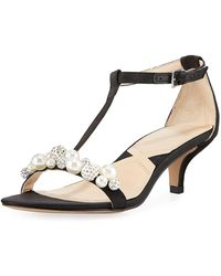 Adrienne Vittadini - Kalina Satin Pearly Embellished Sandal - Lyst