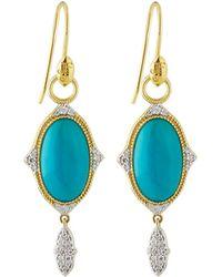 Jude Frances | 18k Moroccan Oval Drop Earrings | Lyst