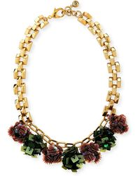 Lulu Frost Rumba Sequined Statement Necklace - Metallic