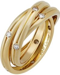 Cartier - Constellation 18k Triple-band Ring W/ Diamonds - Lyst