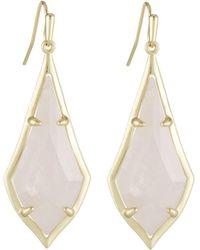 Kendra Scott - Olivia Drop Earrings Rose Quartz - Lyst