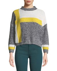 Haute Rogue - Colorblocked Cropped Sweater - Lyst