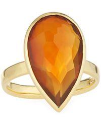 Ippolita - 18k Rock Candy Single Medium Teardrop Ring In Citrine/agate - Lyst