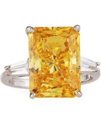 Fantasia by Deserio | Emerald-cut Cz Canary Ring | Lyst