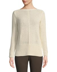 Lafayette 148 New York | Mixed-stitch Pullover Sweater | Lyst