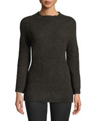 Leon Max - Fully Fashioned Mohair Pullover Sweater - Lyst