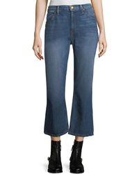 The Great - The Relaxed Nerd Crop Flare Jeans - Lyst