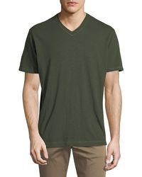 Robert Graham - Men's Albie V-neck Short-sleeve Cotton Knit T-shirt - Lyst