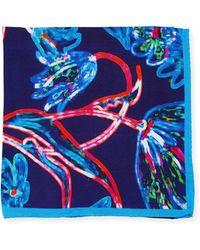 Bugatchi - Grid-print Silk Pocket Square - Lyst