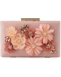 Sondra Roberts - 3-d Floral Fabric Evening Box Clutch Bag - Lyst