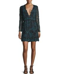 Tryb - Kateria Long-sleeve Lace Mini Dress - Lyst