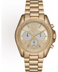 26be9af473d2 MICHAEL Michael Kors - 43mm Bradshaw Chronograph Bracelet Watch Golden -  Lyst
