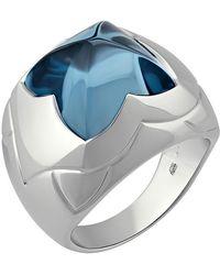 BVLGARI - 18k Blue Topaz Pyramid Ring 6.75 - Lyst