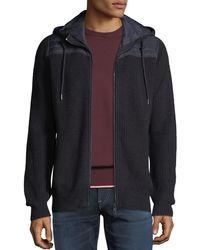 Neiman Marcus - Men's Full-zip Hoodie With Quilted Yoke - Lyst