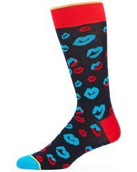 Bugatchi - Men's Lips Cotton-blend Socks - Lyst