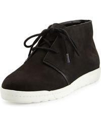 Tahari - Amelia Leather Lace-up Sneaker - Lyst