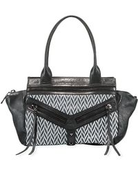 Botkier - Trigger Brushed Leather/fabric Satchel Bag - Lyst