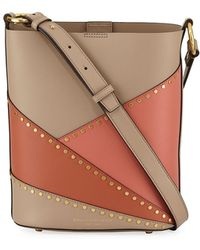 Donna Karan - Adan Studded Patchwork Leather Bucket Bag - Lyst