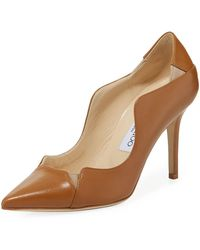 3bc66444c7 Jimmy Choo - Tamika Scalloped Leather Pumps - Lyst