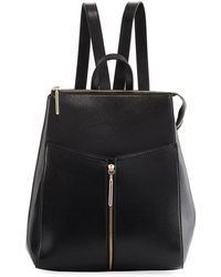 Neiman Marcus | Saffiano Framed Zip Top Backpack | Lyst