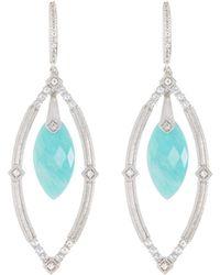 Jude Frances | Encore Sterling Silver Amazonite Dangle/drop Earrings | Lyst