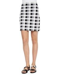 Theory Icon - Holeen Magnified Plaid Pencil Skirt - Lyst