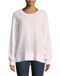 Allen Allen - Lightweight Burnout-terry Crewneck Sweatshirt - Lyst