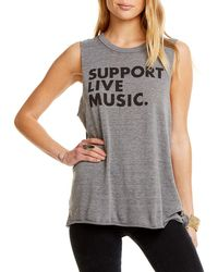 Chaser - Live Music Graphic Tank - Lyst