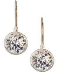 Fantasia by Deserio - Cz Round-cut Dangle & Drop Earrings - Lyst
