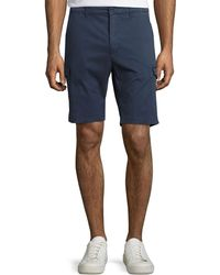 Neiman Marcus - Stretch-cotton Cargo Shorts - Lyst