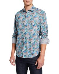 Robert Graham - Men's Clanton Long-sleeve Cotton Sport Shirt - Lyst