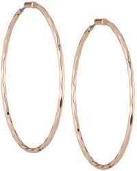 Lydell NYC - Rose Golden Hoop Earrings - Lyst