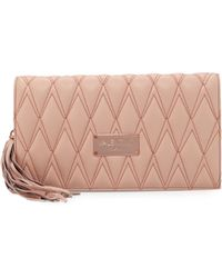 Valentino By Mario Valentino | Lena D Quilted Leather Clutch Bag | Lyst