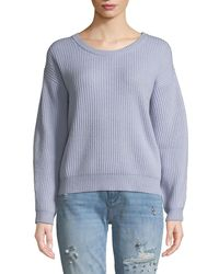 Quinn - Shaker Stitch Cropped Wool-blend Sweater - Lyst