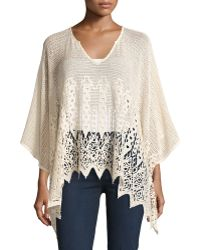 On The Road - Maxine Crochet Poncho Top - Lyst