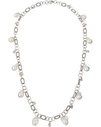 Assael - 18k Long Freshwater Pearl & Moonstone Link Necklace - Lyst