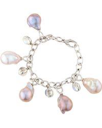 Assael - 18k Pink Freshwater Pearl & Moonstone Charm Bracelet - Lyst