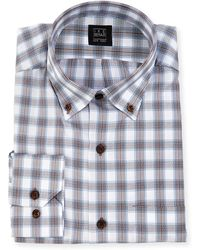 Ike Behar - Plaid Dress Shirt - Lyst