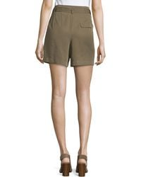 Dex - High-waist Self-tie Shorts - Lyst