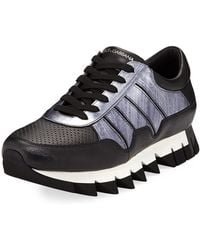 Dolce & Gabbana - Chunky Mixed Leather Sneaker - Lyst